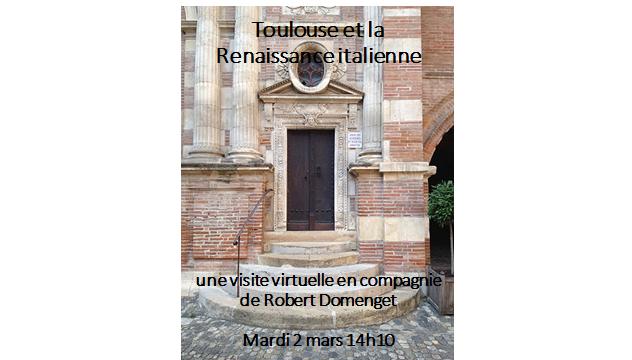 Affiche Visite Virtuelle Toulouse Renaissance Italienne