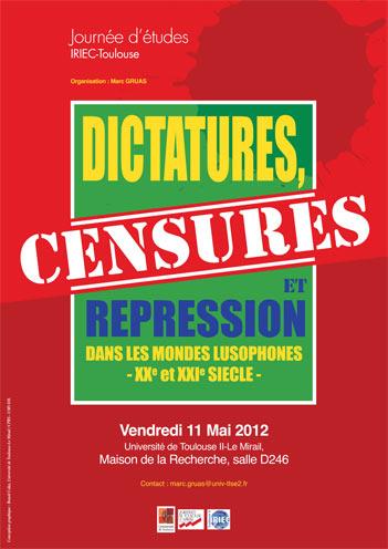 Journées d'études Dictatures, censures et répression dans les mondes lusophones